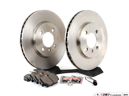 ES#2762758 - 34111160915KT8 -  Performance Front Brake Service Kit - Featuring Brembo rotors and Hawk HPS pads - Assembled By ECS - BMW