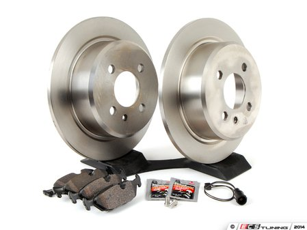 ES#2762765 - 34111160915KT10 - Performance Rear Brake Service Kit - Featuring Brembo rotors and Hawk HPS pads - Assembled By ECS - BMW
