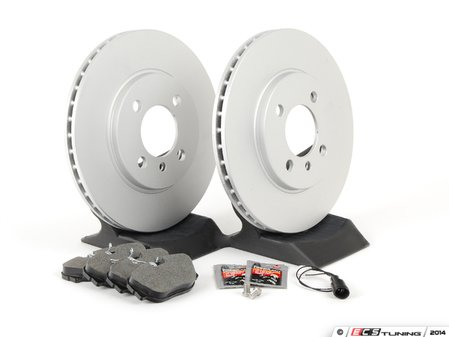ES#2731699 - 34111160915KT2 - Front Brake Service Kit - Featuring Zimmermann coated rotors and Pagid brake pads - Assembled By ECS - BMW