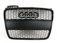 ES#6624 - 8e0898001 - RS4 Black Optic Grille Kit - With Black Plate Filler - Upgrade your exterior look - Genuine Volkswagen Audi - Audi