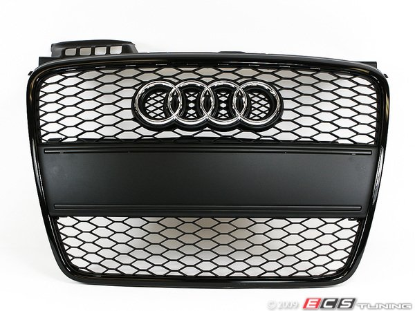 ES#6624 - 8e0898001 - RS4 Black Optic Grille Kit - With Black Plate Filler - Upgrade your exterior look - Genuine Volkswagen Audi - Audi