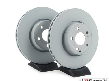 ES#2609023 - 2044210812KT4 - Front Brake Rotors - Pair - Includes left and right front brake rotors - Genuine Mercedes Benz - Mercedes Benz