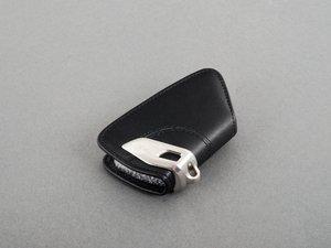 ES#2706454 - 82292344033 - Genuine BMW Black Key Case w/ Stainless Steel Clip - Add style to your keychain! - Genuine BMW - BMW