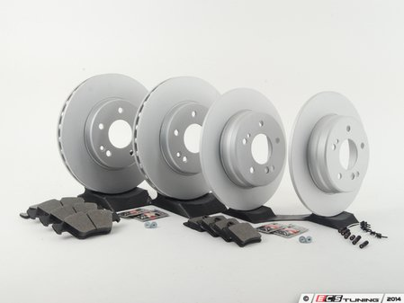ES#2762660 - 2034210312KT9 - Front & Rear Brake Service Kit - Featuring Meyle rotors and NPN pads - Assembled By ECS - Mercedes Benz