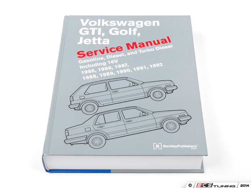 Bentley Vg92 Vw Mkii Gti Golf Jetta 85 92 Service