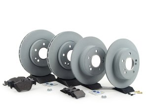 ES#2762591 - 2034210312KT5 - Front & Rear Brake Service Kit - Featuring Genuine Mercedes-Benz Rotors And Pads - Genuine Mercedes Benz - Mercedes Benz