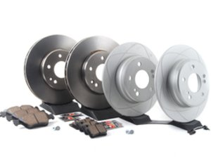 ES#2762593 - 2034210312KT7 - Front & Rear Brake Service Kit - Featuring ATE Rotors And Akebono-Euro Ceramic Pads - Assembled By ECS - Mercedes Benz