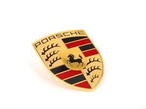 ES#3496143 - 9P1853601 - Hood crest - Full Color - New-style Porsche crest - Genuine Porsche - Porsche