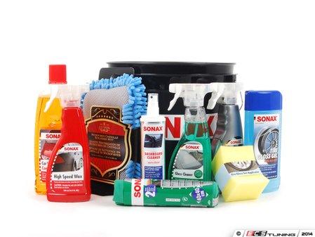 ES#2765823 - 24801 - Summer Bucket Kit - Black bucket with 8 Sonax products and wash mitt! - SONAX - Audi BMW Volkswagen Mercedes Benz MINI Porsche