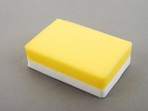 ES#2626133 - 417300 - Application Sponge - Finely poured yellow sponge with a white grip - SONAX - Audi BMW Volkswagen Mercedes Benz MINI Porsche