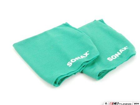 ES#2762736 - 416541 - Microfiber Cloths Plus - Pack of 2 - Includes two ultra-fine microfibre cloths - SONAX - Audi BMW Volkswagen Mercedes Benz MINI Porsche