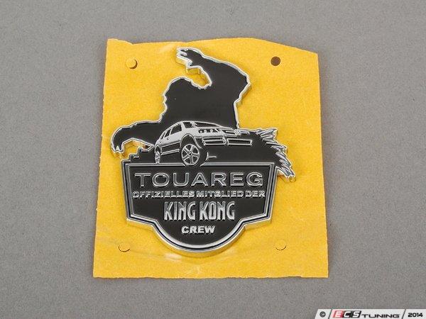 genuine volkswagen audi 7l6853621fxc touareg king kong crew badge. Black Bedroom Furniture Sets. Home Design Ideas