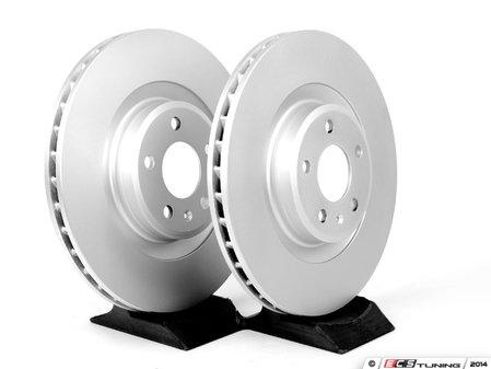 ES#2215358 - 8K0698301MKT2 - Front Brake Rotors - Pair (345x30) - Featuring a protective Platinum coating - Meyle - Audi