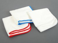 ES#2626145 - 450700 - Ultrafine Microfiber Cloths - Pack Of 3 - Each cloth has different colored seams to avoid using different products with the same cloth - SONAX - Audi BMW Volkswagen Mercedes Benz MINI Porsche