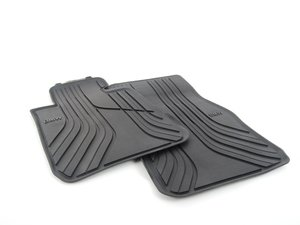 ES#2733371 - 51472210208 - Front Rubber Floor Mats - Black - Protects your floor and carpet from moisture - Genuine BMW - BMW