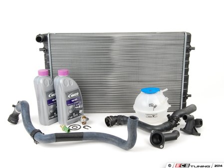 ES#2710337 - 1J0121253P - ECS Cooling System Refresh Kit - OE Plus - Replace the most common failure points in your cars cooling system including a replacement 2-row radiator - Assembled By ECS - Volkswagen