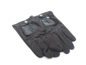 ES#256640 - 80162150526 - BMW Driving Gloves - M - Leather driving gloves garnished with the BMW roundel - Genuine BMW - BMW