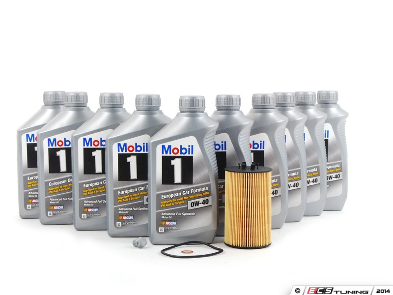 Ecs news mercedes benz w204 c63 amg engine oil service kits for Mercedes benz oil change service