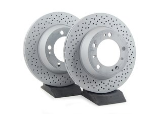 "ES#2535840 - 98635240301KT - Coated Rear Brake Rotors - Pair 11.77"" (299mm) - Rear axle fitment - Both left and right - Zimmermann - Porsche"