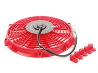 "ES#2764787 - MMFAN12RD - Universal 12"" Electric Fan - Red - 934 CFM - 5.7 amps at 12.3 volts - Mishimoto - Audi BMW Volkswagen MINI"