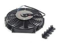 "ES#2765250 - MMFAN12 - Universal 12"" Electric Fan - Black - 934 CFM - 5.7 amps at 12.3 volts - Mishimoto - Audi BMW Volkswagen MINI"