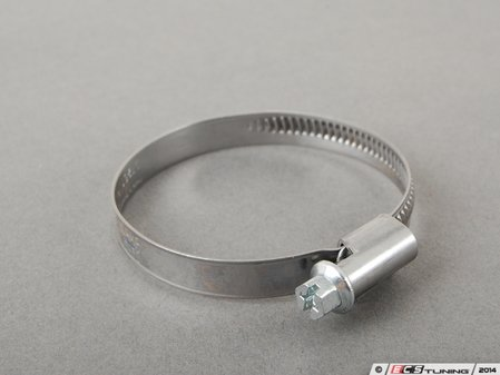"ES#2763843 - 5076K18 - 430 Stainless Steel Smooth-Band Worm-Drive Hose Clamp - 1-5/8"" to 2-3/8"" - ECS - BMW Volkswagen Mercedes Benz MINI Porsche"