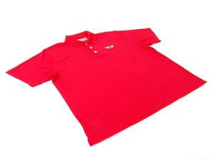 ES#2504045 - 80902296852 - MINI Mens Recycled Polo - Red - Large - Button down polo with MINI logo crest on chest - Genuine MINI - MINI