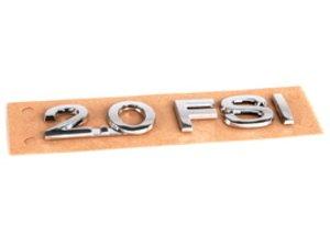 "ES#7146 - 3C0853675A739 - ""2.0FSI"" Emblem - All Chrome stick on emblem - Genuine Volkswagen Audi - Audi Volkswagen"