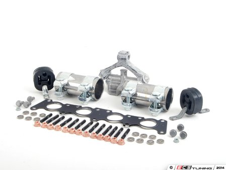 ES#2587652 - 8D0253144RKT - ECS Turbo-Back Exhaust Installation Kit - Everything you need from the manifold back - Assembled By ECS - Volkswagen