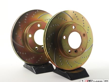 ES#521729 - GD553 - Sport Front Brake Rotors - Pair (286x22) - Dimpled and slotted brake rotor set - EBC - BMW