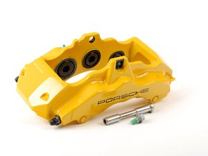 ES#1485501 - 99635143131 - Front Brake Caliper - Yellow - Left side fitment - Genuine Porsche - Porsche