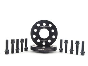 ES#2748198 - ECS10159KTWBC1 - ECS Wheel Spacer  Bolt Kit - 20mm With Black Conical Seat Bolts - Includes everything you need to install spacers on two wheels - ECS - Audi Volkswagen