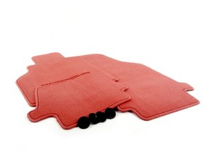 ES#1354544 - 00004480084M30 - Set Of Floor Mats - Boxster Red - Beautiful OEM Boxster Red floor mats - Genuine Porsche - Porsche