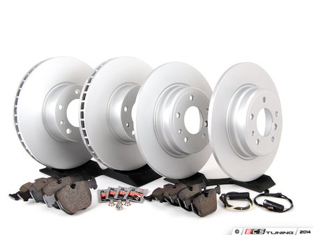 ES#2763155 - 34116757746kt9 - Front And Rear Brake Service Kit - Featuring Meyle coated rotors and Pagid pads - Assembled By ECS - BMW