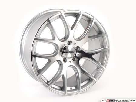 """ES#2771265 - 040-7KT - 19"""" Style 040 Wheels - Set Of Four  - 19""""x8.5"""" ET35 66.6CB 5x112. Hyper Silver with machined face - Alzor - Audi MINI"""