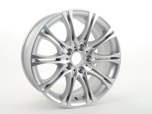 "ES#65137 - 36118036944 - 18"" M Double Spoke Style 135 Wheel - Priced Each - 18x8 ET43 CB 72.6mm. Originally found on E46 ZHP models. - Genuine BMW - BMW"