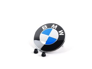ES#2770886 - 51147044207KT - BMW Emblem / Roundel  With Grommets - Tired of looking at your faded BMW Badge? Replace it with the Genuine OEM Roundel - Genuine BMW - BMW