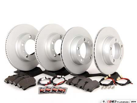 ES#2594621 - 98635140105OEKT - Front & Rear Brake Service Kit - Featuring Meyle rotors and ATE/Textar brake pads - Assembled By ECS - Porsche