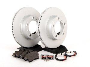 ES#2594667 - 98635140105FOEKT - Front Brake Service Kit - Featuring Meyle rotors and Textar brake pads - Assembled By ECS - Porsche