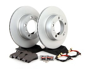 ES#2594668 - 98635140105ROEKT - Rear Brake Service Kit - Featuring Meyle rotors and Textar brake pads - Assembled By ECS - Porsche