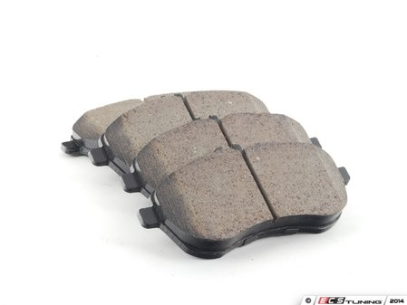 ES#2612240 - 0054201220 - Front Euro Ceramic Brake Pad Set - Includes brake pad wear sensors - Akebono - Mercedes Benz