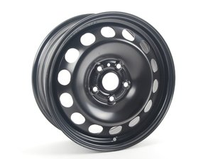 "ES#4004477 - 5K0601027A03CKT - 16"" Steel Wheel - Set Of Four - 16""x6.5"" ET50 5x112 - Rally Black - Genuine Volkswagen Audi - Audi Volkswagen"