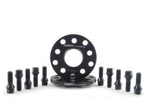 ES#2748254 - ECS20255571WBKT1 - ECS Wheel Spacer & Bolt Kit - 10mm With Black Conical Seat Bolts - Complete kit for two wheels, comes with everything you need to install spacers on your aftermarket wheels - ECS - Audi Volkswagen