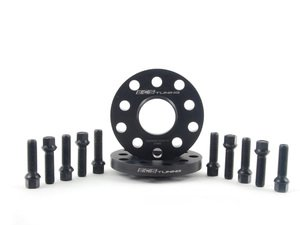 ES#2748257 - 30255571ECSWBKT -  ECS Wheel Spacer And Bolt Kit - 15mm With Black Ball Seat Bolts - Comes with everything you need to install spacers on two wheels - ECS - Audi Volkswagen