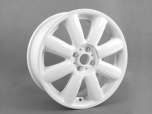 "ES#64928 - 36116769412 - R104 MINI Crown Spoke Wheel 17"" (4x100) White - Priced Each - 17 x 7J ET:48 - Genuine MINI - MINI"