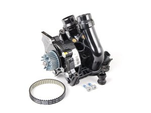 ES#2532908 - 06H121026BAKT - Water Pump Kit - Includes a new water pump, belt, thermostat/housing, union piece & hardware - Genuine Volkswagen Audi - Audi Volkswagen
