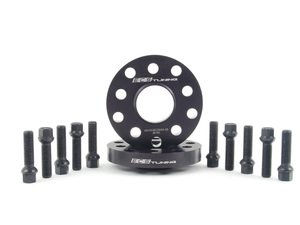 ES#2748261 - ECS40255571WBKT -  ECS Wheel Spacer And Bolt Kit - 20mm With Black Ball Seat Bolts - Comes with everything you need to install spacers on two wheels - ECS - Audi Volkswagen