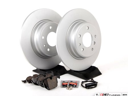 ES#2763163 - 34116757746KT11 - Rear Brake Service Kit - Featuring Meyle coated rotors and Textar pads - Assembled By ECS - BMW