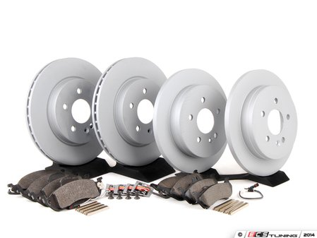 ES#2762538 - 1634230112KT11 - Front & Rear Brake Service Kit - Featuring ATE Rotors And Pads - Assembled By ECS - Mercedes Benz