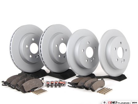 ES#2762537 - 1634230112KT10 - Front & Rear Brake Service Kit - Featuring ATE Rotors And Pads - Assembled By ECS - Mercedes Benz